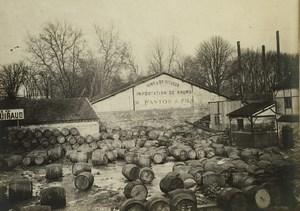 France Paris Inondations de 1910 Floods Seine River Vins Spiritueux Fanton Photo