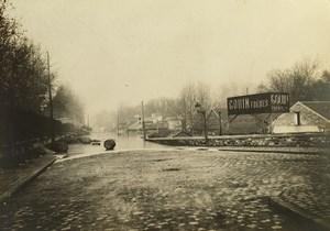 France Paris Inondations de 1910 Floods Seine River Gouin Freres Old Photo
