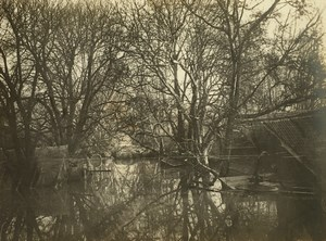 France Paris Inondations de 1910 Floods Seine River Old Photo