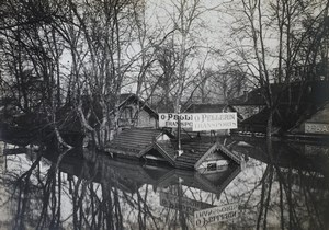 France Paris Inondations de 1910 Floods Bercy Transports Pellerin Old Photo