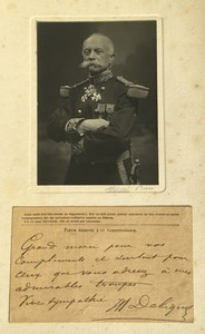 WWI General Henry Victor Deligny Texte Autographe Ancienne Photo Mascré 1914-1918