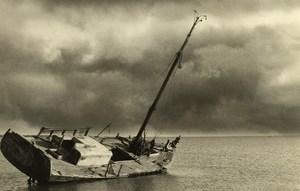 France Nord Sailboat Wreck Sea old Deplechin Photo 1990