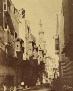 Egypt Cairo Moorish Architecture Rue El Fouvaliah Street Scene Sebah Photo 1880