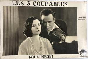 Pola Negri Three Sinners Les 3 Coupables Lobby Card Paramount Movie Photo 1928