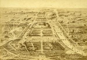 Draw Paris Panorama World Fair Old Cabinet Card Photo CC Pilon 1867