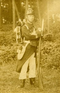 Military Uniform Clothing Campaign Belgium Old Photo 1865