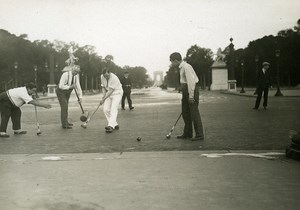 Journalists Intran Sports playing croquet on Champs Elysees Paris Old Photo 1930