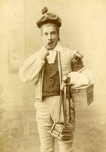 French Theater Actor A Levy France Old CC Pirou Photo dedicated 1889