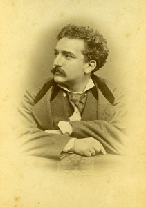 French Opera Singer Eduardo Rey Autograph Old Cabinet photo Helios 1876