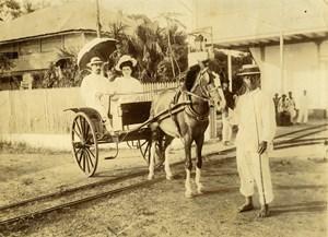 Africa Guinea Conakry Car ride on horseback Old Photo 1890
