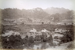 Panorama of Phu Binh Gia Cai KinhTonkin Vietnam Old Photo Tong Sing 1895