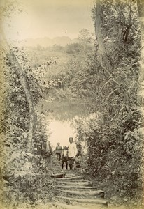 Cai Kinh Around Long Met Song Rong River Vietnam Old Photo Tong Sing 1895