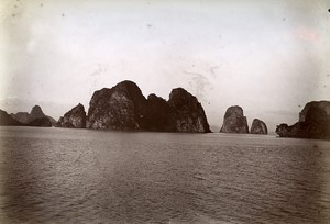 Ha Long Bay Indochina French Occupation Vietnam Old Photo Tong Sing 1895