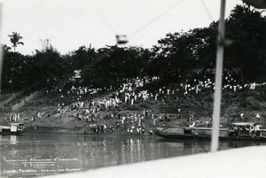 Indochina Laos Luang Prabang Plane Arrival Old Amateur Snapshot Photo 1930