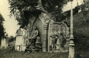 Indochina Cambodia Phnom Penh temple of Wat Old Amateur Snapshot Photo 1930