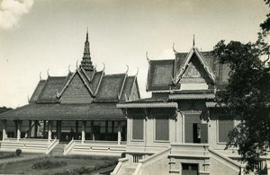Indochina Cambodia Phnom Penh Royal Palace Old Amateur Snapshot Photo 1930