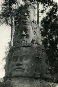 Indochina Cambodia Angkor Old Amateur Snapshot Photo 1930