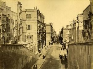 Malta Street Reale & Armoury 2 Old Photos Agius Front/Back 1885