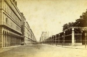 France Paris Rivoli Street Old Cabinet Photo Debitte & Herve 1875