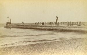 France les Sables d'Olonnes Harbour Old Cabinet Photo Collin 1875