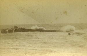 France les Sables d'Olonnes Outer Harbor Old Cabinet Photo Collin 1875