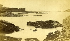 France Saint Malo taken from Fort National Old Cabinet Photo Ordinaire 1875