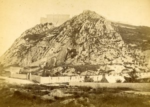 France Cherbourg Fort Old Cabinet Photo Rideau 1875