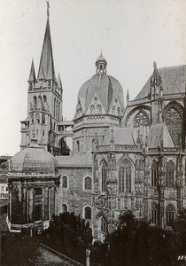 Germany Aix la Chapelle Cathedral Old Cabinet Photo Roepke 1890