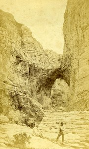 Algeria Constantine Vulture of Rhummel & Sidi Mecid Old Cabinet Photo 1875