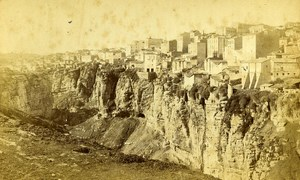 Algeria Constantine Ravine of Rhummel Old Cabinet Photo 1875