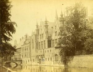 Belgium Bruges Channel Old Cabinet Photo 1875