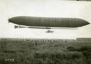 France Early Aviation Plane Morning Post Airship Old Photo Branger ca 1910