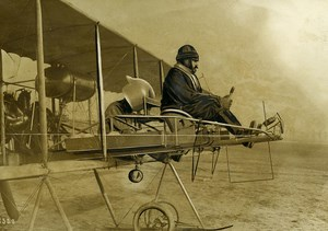 France Early Aviation Lt Maillefert Aerocible Michelin Target Old Photo Rol 1912