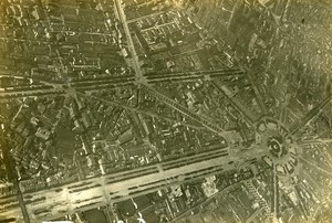 France WWI over Paris Nation Fauvet on Farman Plane Old Aerial Photo 1916