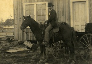 USA Mister William J Berger on Horse Old Cabinet Photo 1900