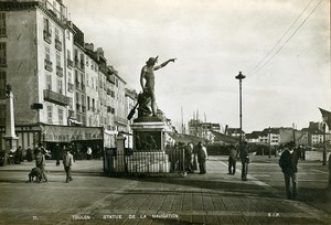 France Toulon Statue of Navigation Old Cabinet Photo SIP 1900