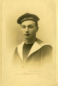 France Toulon Sailor of Light Cruiser le Primaiguet Old Photo Theret 1930