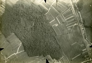 France WWI Military Aerial View Tagolsheim Old Photo 1916