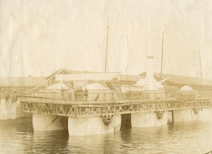 France Le Havre Boat Roll Bateau Rouleau de Ernest Bazin Old Photo 1898