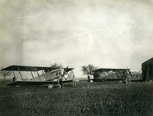 France WWI First World War Plane Bombing Old Photo 1918