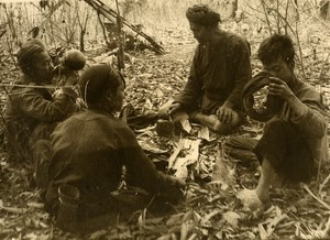 Vietnam Krong Kno Area Everyday Life Scene Break Time Old Photo 1937