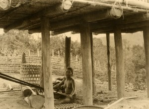 Vietnam Krong Kno Area Everyday Life Scene Weaving Old Photo 1937