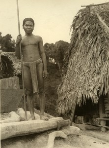 Vietnam Krong Kno Area Everyday Life Scene Peasant Old Photo 1937