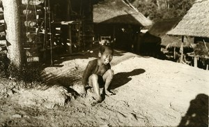 Vietnam Krong Kno Area Everyday Life Scene Child Old Photo 1937