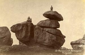 France Brittany Bretagne Tregastel Chameau & Champignon Rocks Photo Fougere 1880