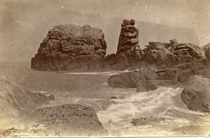 France Brittany Bretagne Tregastel le Gouffre Old Photo Fougere 1880