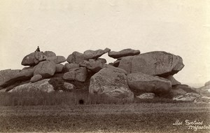 France Brittany Bretagne Tregastel the Turtle Old Photo Fougere 1880