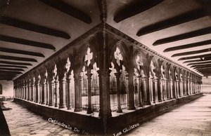 France Brittany Bretagne Tregastel Cathedrale Cloister Old Photo Fougere 1880