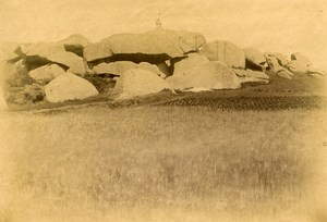 France Brittany Bretagne Tregastel the Turtles Old Photo Fougere 1880