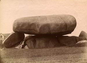 France Brittany Bretagne Tregastel Rocks Old Photo Fougere 1880